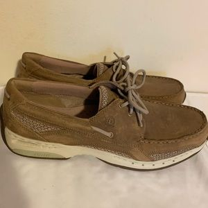 Dunham New Balance tan Leather boat shoe Size 12D